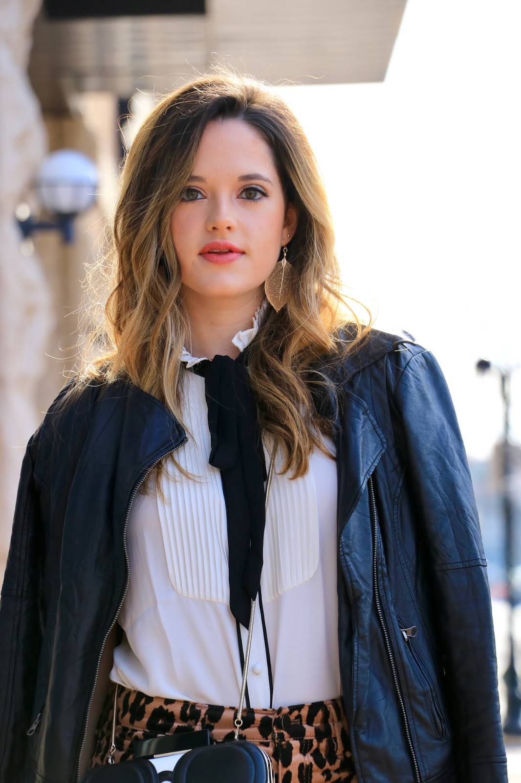 Nyc fashion blogger Kathleen Harper's necktie blouse outfit