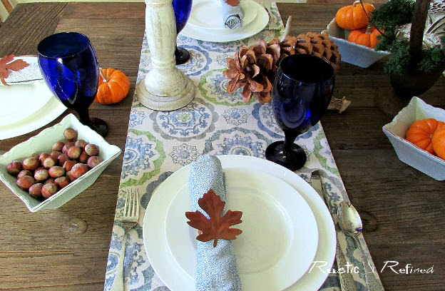 Simple and Easy Thanksgiving Tablescape