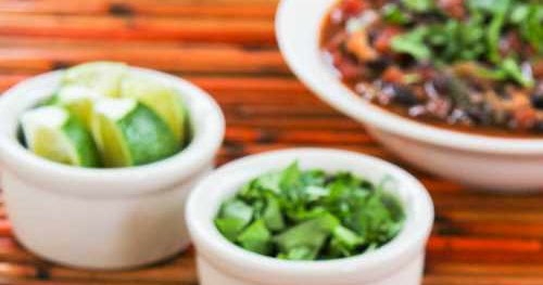 Kalyn's Kitchen®: Slow Cooker Vegetarian Black Bean and Rice Soup ...