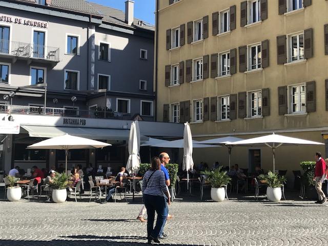 スイスのブリークの町は石畳が素敵