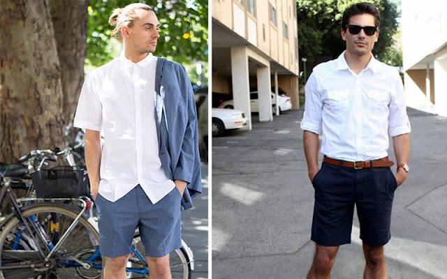 Áo sơ mi tay ngắn + quần shorts