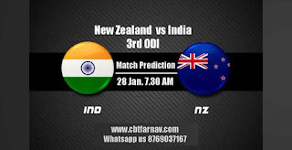 Today 3rd ODI Match Prediction India vs New Zeland Dream 11 Team