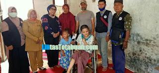 Revani Warga Desa Sukaraja   Dapat Bantuan Kursi Roda