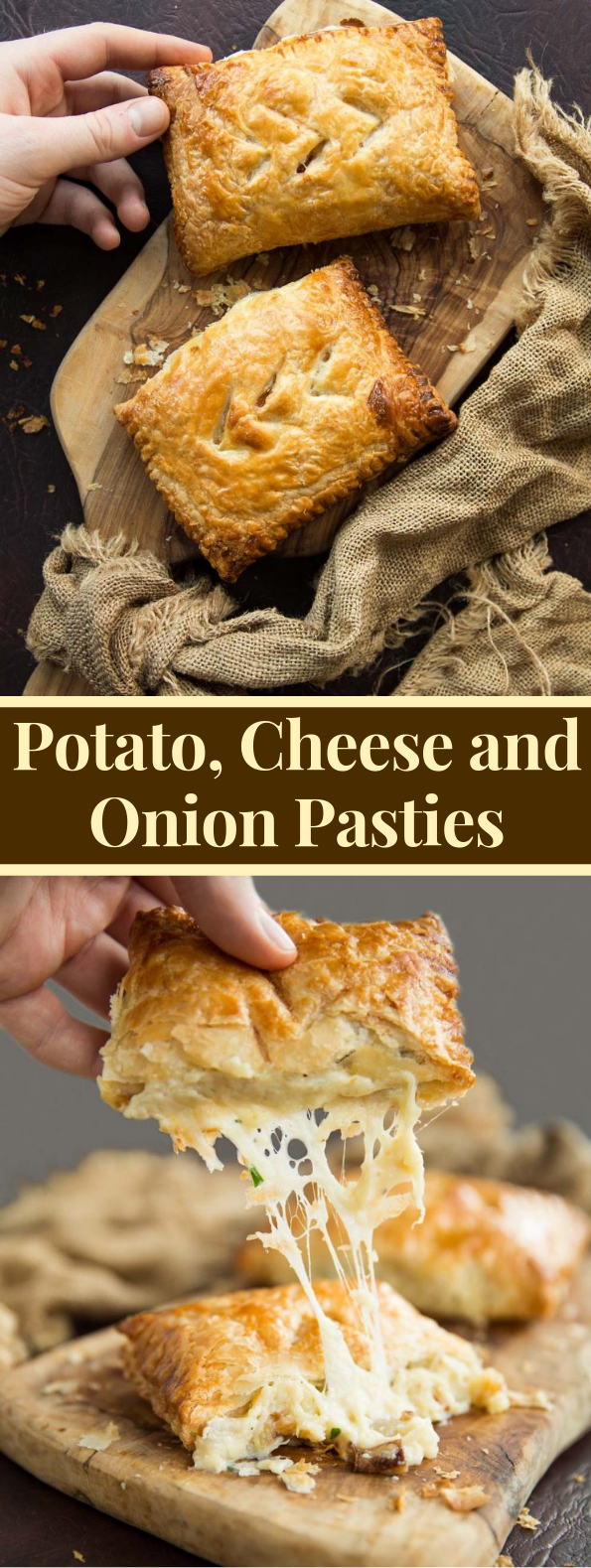 Potato, Cheese and Onion Pasties #dinner #pastry