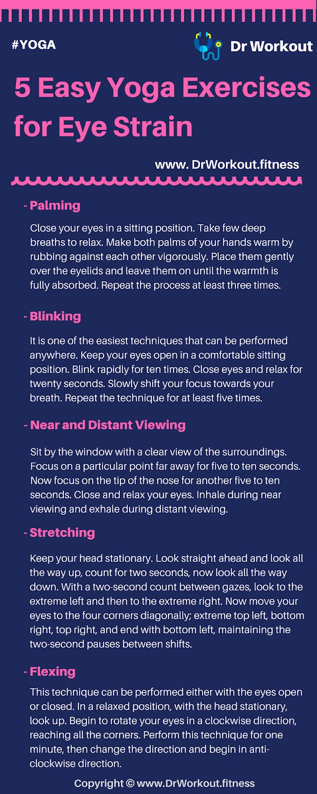 Yoga Exercises for Eye Strain