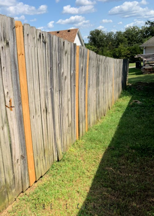 Replaced slats on Wooden Fence in Middle Tennessee.