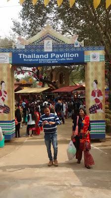 Thailand pavilion view at Surajkund mela