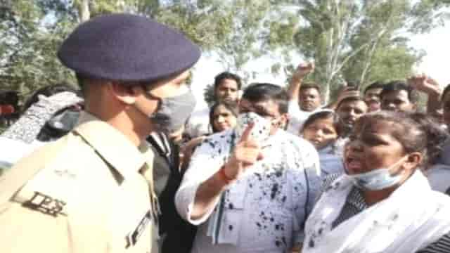 Hathras: News of Stone Pelting, Ink Thrown at AAP MP Sanjay Singh to Visit Victim Family