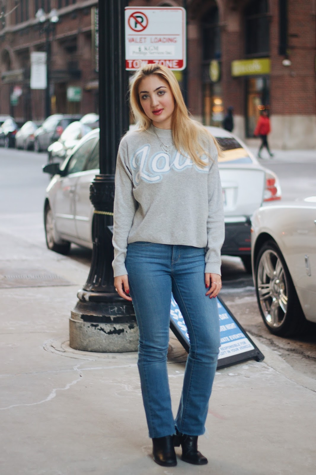 full outfit in Chicago Illinois fashion and style
