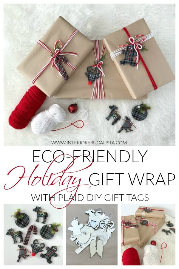 Eco Friendly Holiday Gift Wrap With DIY Plaid Gift Tags