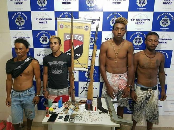 Jovens são presos suspeitos de tráfico de drogas em Angical – município de Irecê