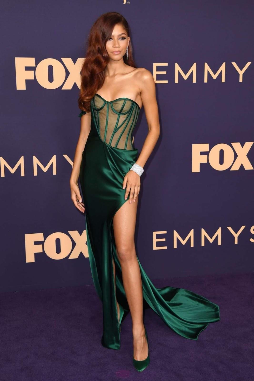 Zendaya's Emmys Look Is Like a Hot Little Mermaid in Lingerie