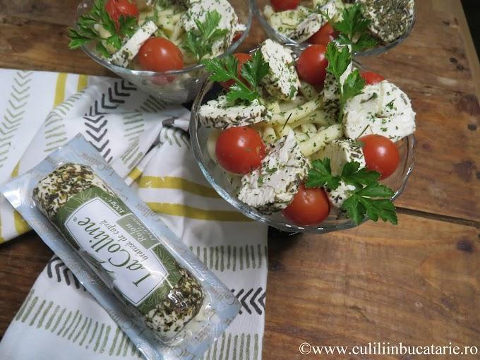 Salata de paste cu branza de capra