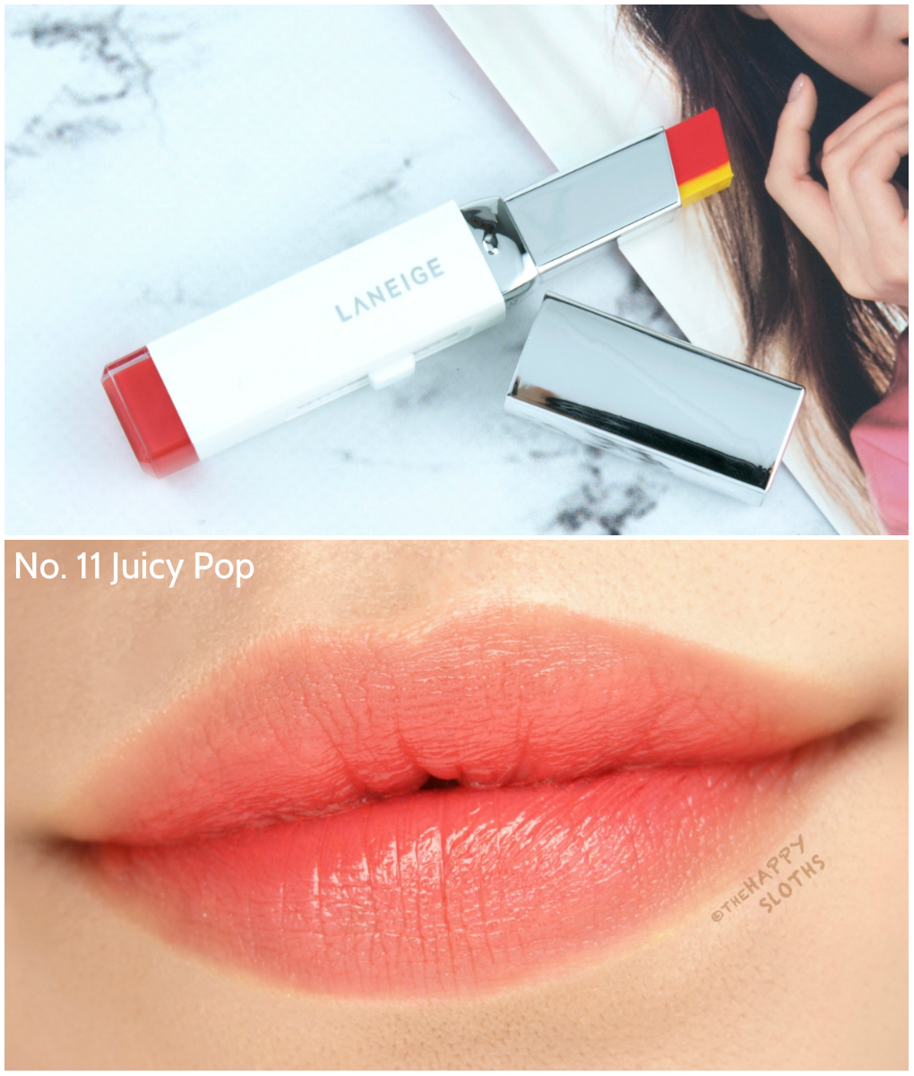 LANEIGE Two Tone Lipstick | No.11 Juicy Pop: Review and Swatches