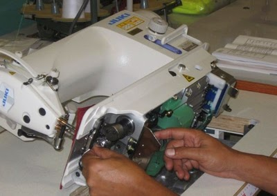 maintenance procedure of a sewing machine