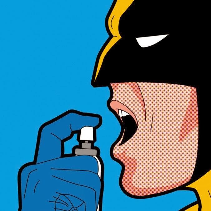 ilustración de super héroes cultura pop wolverine