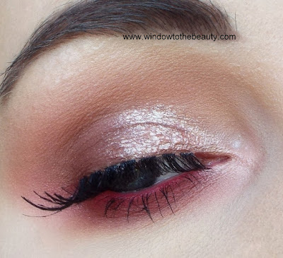 glow pink brown makeup