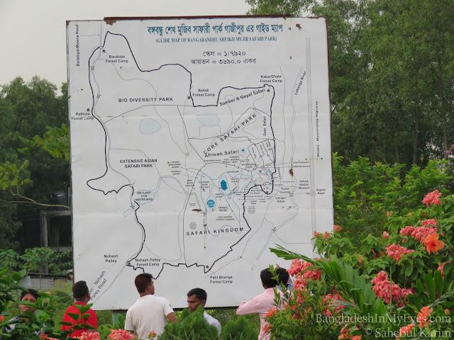 Map of Bangabandhu Safari Park