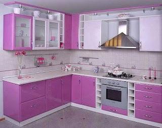 Koleksi Lengkap Desain Dapur Minimalis Warna Ungu Berkesan Modern