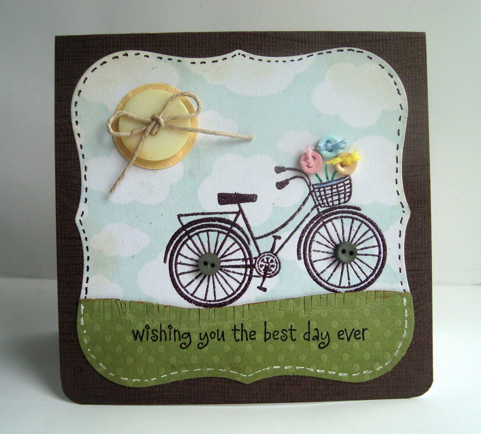 Открытки праздником, открытки с велосипедом своими руками