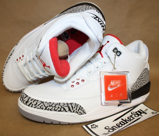 a0d18e3a1804 This time its back on the Air Jordan 3 Retro in the original white and cement  grey ...
