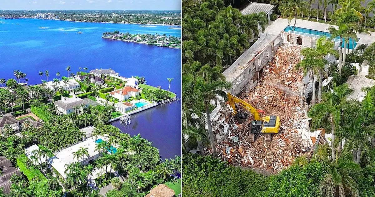 Jeffrey Epstein's $18.5 Million Florida Mansion Is By Demolished New Owner