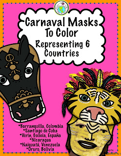 Carnaval Masks for Kids to Print and Make