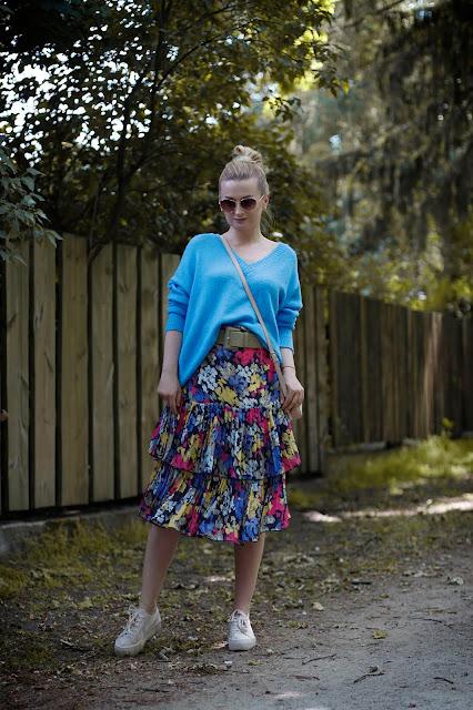 Kwiatowa spódnica vintage