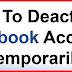 Deactivate Facebook Link