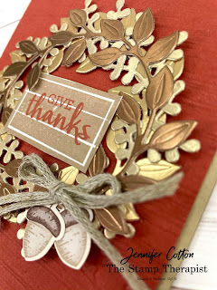 Stampin' Up!'s Arrange a Wreath bundle.  Video & details on blog.  #StampinUp #StampTherapist