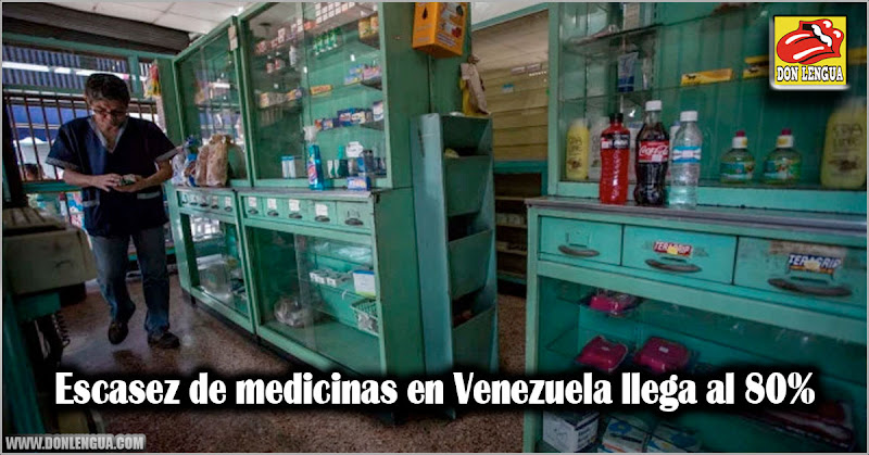 Escasez de medicinas en Venezuela llega al 80%