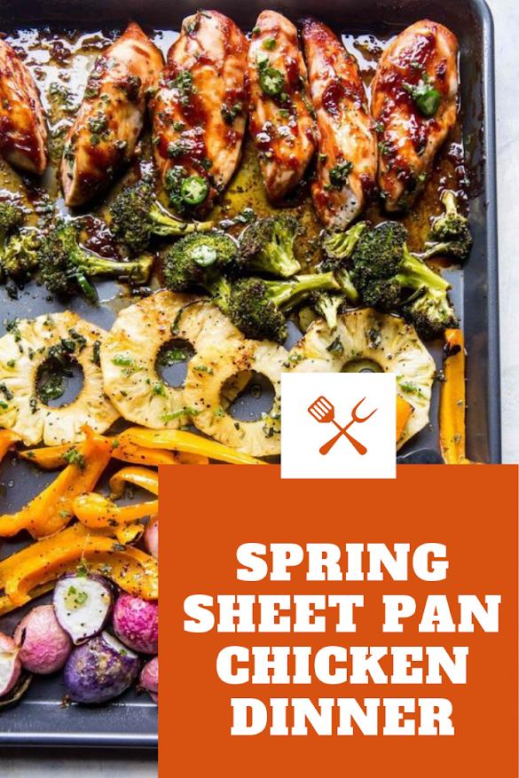 Spring Sheet Pan Chicken Dinner