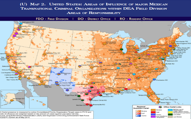 Estos son los 7 cárteles mexicanos que dominan el narcotráfico de costa a costa en EU