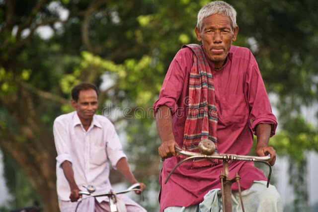 old uncle ryding cycle village india