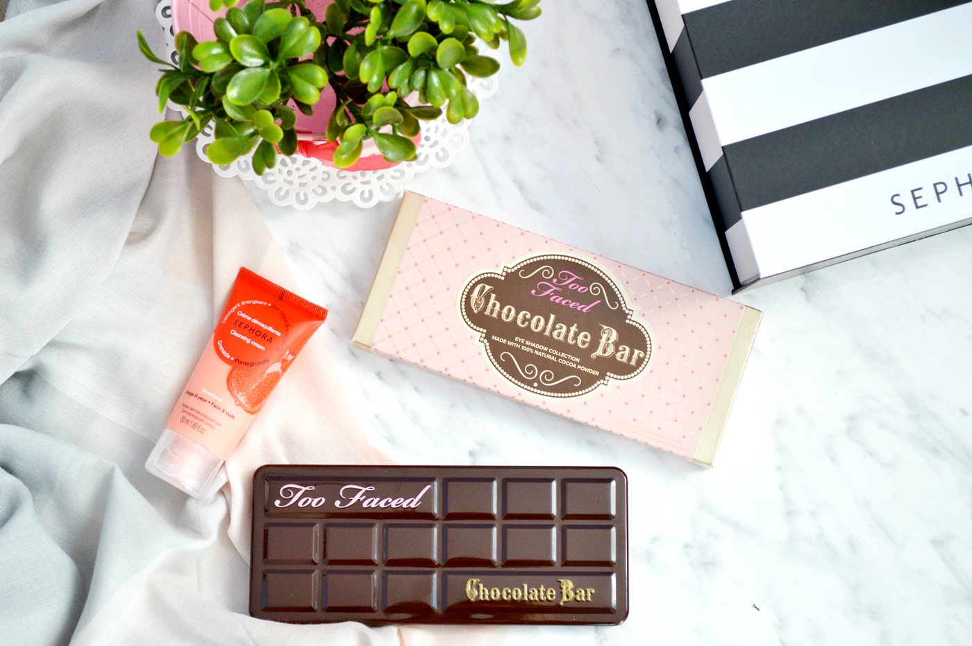 chocolate bar too faced paleta sephora