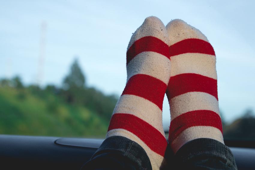 meias listradas