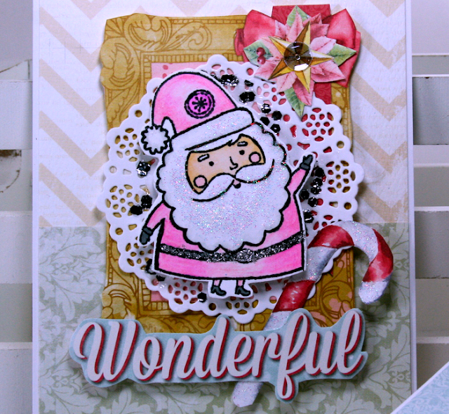 Wonderful Christmas Greeting Cards by Ginny Nemchak for BoBunny using Carousel Christmas