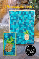 Pineapple quilt pattern using prairie points
