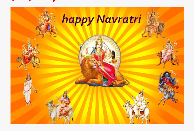 Good Morning happy navratri