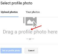 drag a profile photo here par click kare
