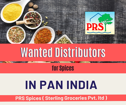 Wanted Distributors, Super Stockist & C&F for Spices Products in Pan India