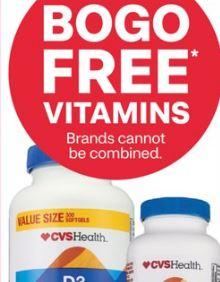 Select CVS Health vitamins