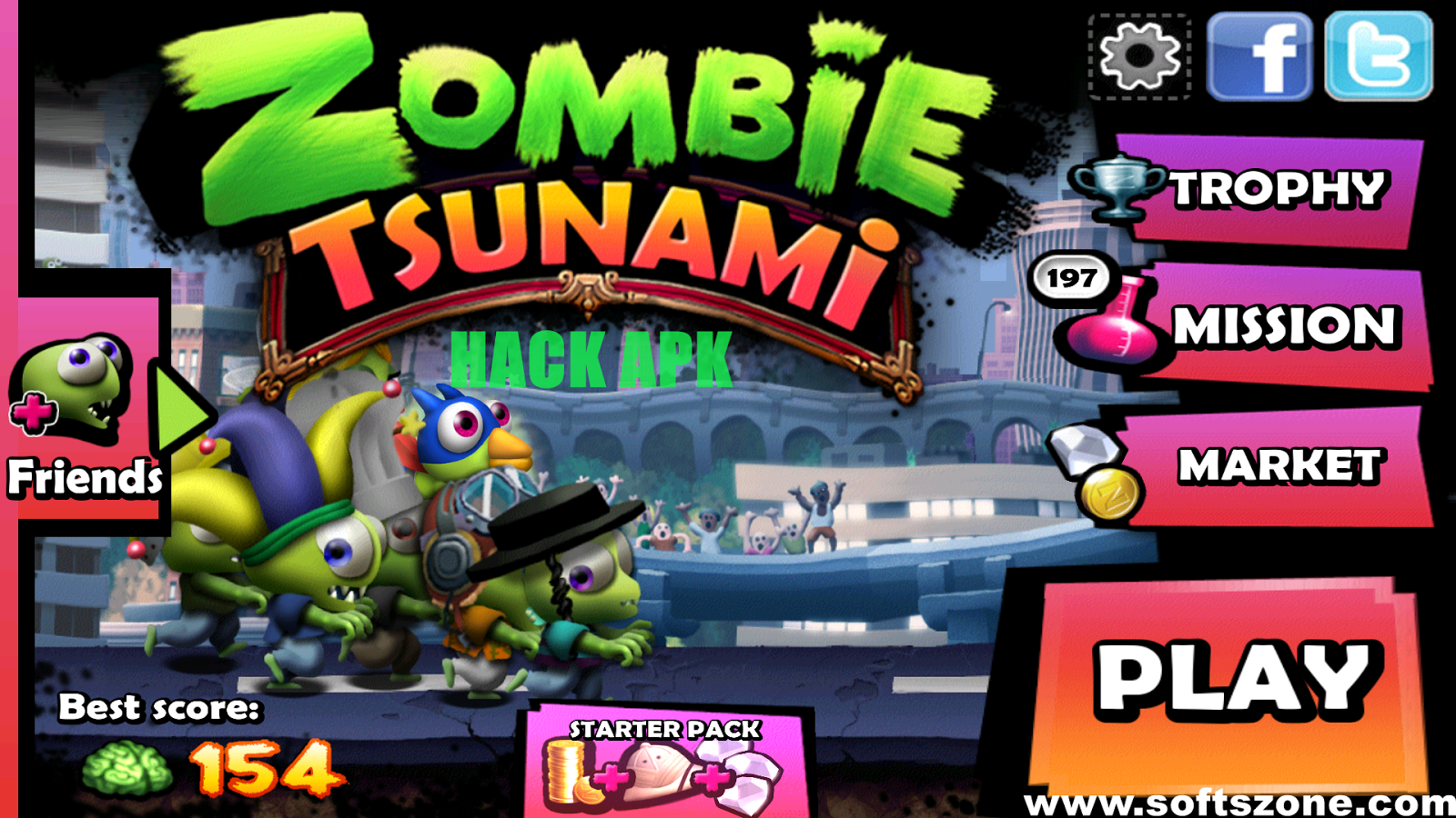 download zombie tsunami mod unlock all