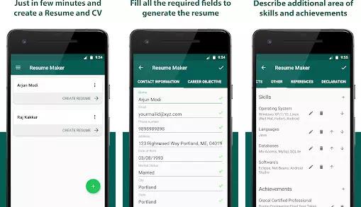 Aplikasi Membuat CV Lamaran Kerja Gratis Terbaik di Android-5