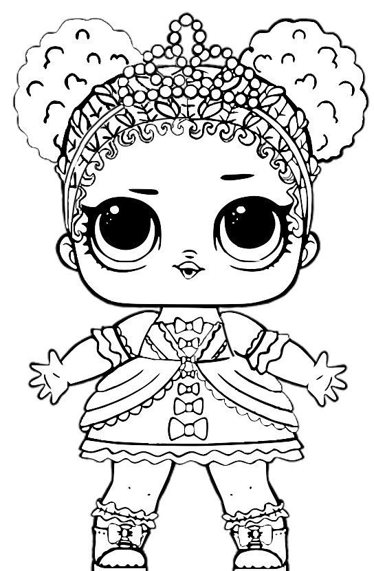 Little Lids Siobhan LOL Doll Colouring