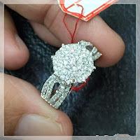Jual Cincin Berlian Ring Emas Putih