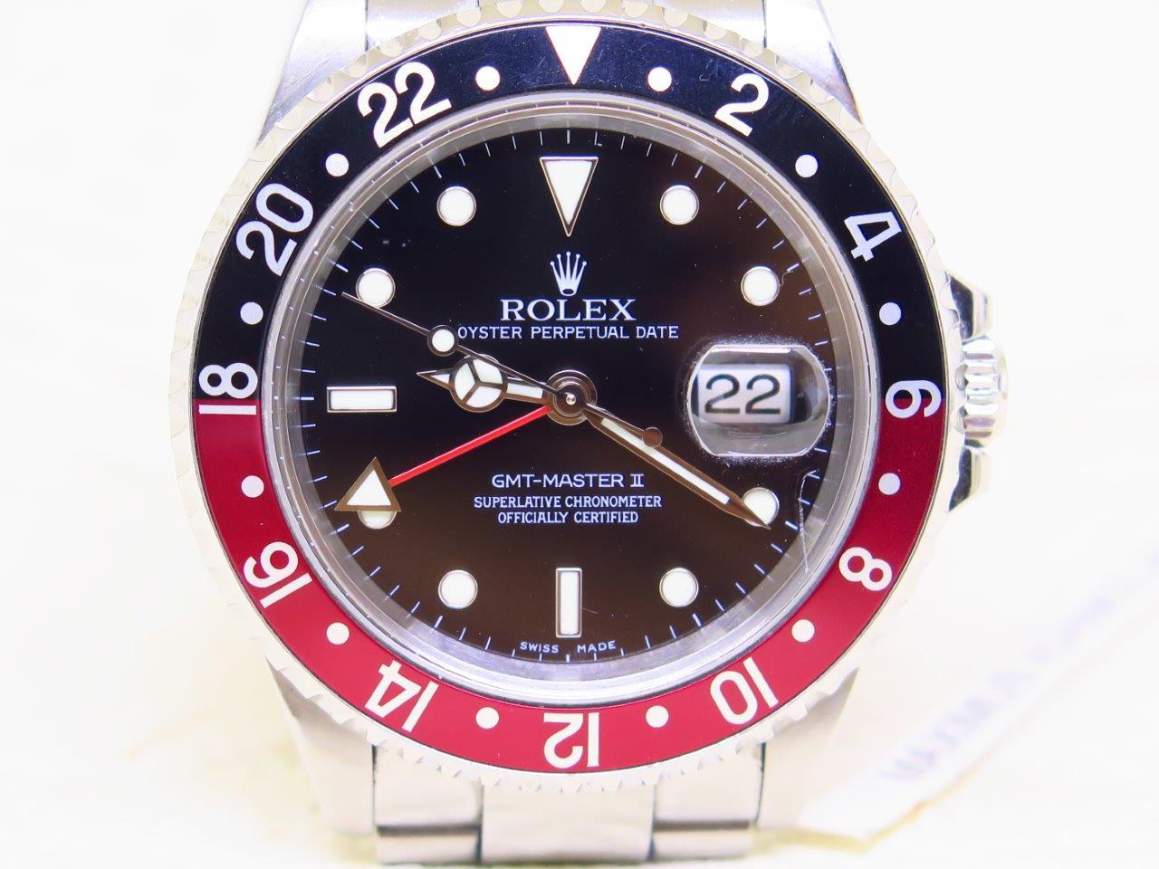 ROLEX GMT MASTER II COKE BEZEL - ROLEX 16710 - SERIE F YEAR 2003 NO PIN HOLE