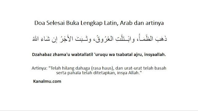 Doa Setelah Selesai Buka Lengkap Arab Latin Artinya
