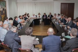 Cabrera se reunió con la gobernadora Rosana Bertone