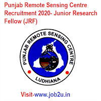 Punjab Remote Sensing Centre Recruitment 2020, Junior Research Fellow (JRF)